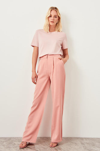 Cecile High Waist Straight Leg Pants - Olyssia™ Online