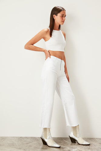 Mandy Wide-legged Denim Culottes - Olyssia™ Online