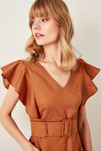 Load image into Gallery viewer, Ellie Frill Sleeve Belted Dress - Olyssia™ Online