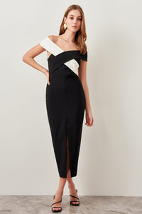 Mischa Crossover Evening Dress - Olyssia™ Online