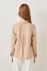 Sarai Long Sleeve V-Neck Blouse - Olyssia™ Online