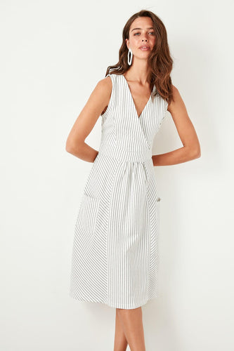 Rachel Stripe Dress - Olyssia™ Online