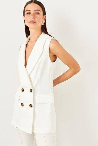 Olivia Sleeveless Double Breasted Suit Vest - Olyssia™ Online