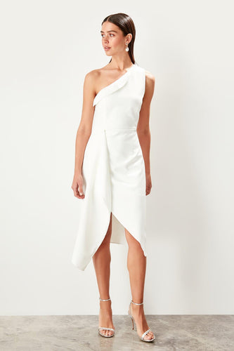 Flora One Shoulder Wrap Dress - Olyssia™ Online