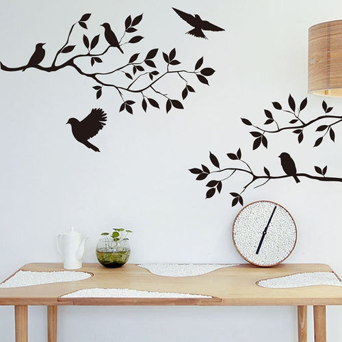 Tree & Bird Wall Vinyl Art Decal - Olyssia™ Online