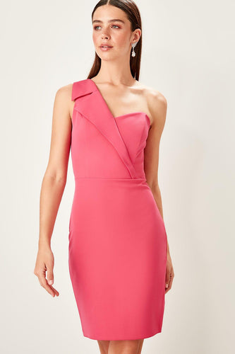 Emily One Shoulder Collar Dress - Olyssia™ Online