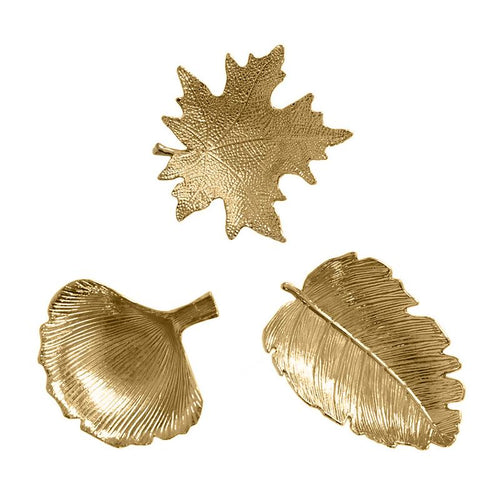 Golden Leaf Design Tray - Olyssia™ Online