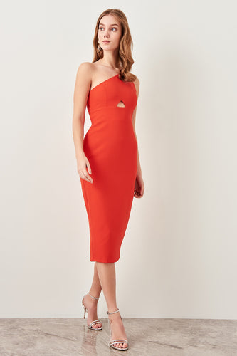 Mariah One Shoulder Evening Dress - Olyssia™ Online