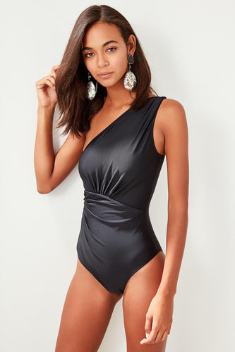 Melanie One Shoulder One Piece Swimwuit - Olyssia™ Online