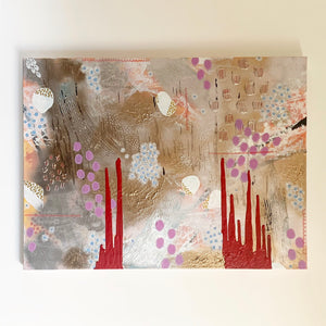 """Autumn into Winter"" - Large abstract painting"