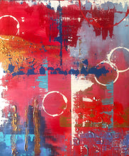 Load image into Gallery viewer, Red Contemporary Abstract Painting
