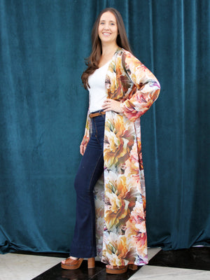 Autumn Flowers | Silky Kaftan