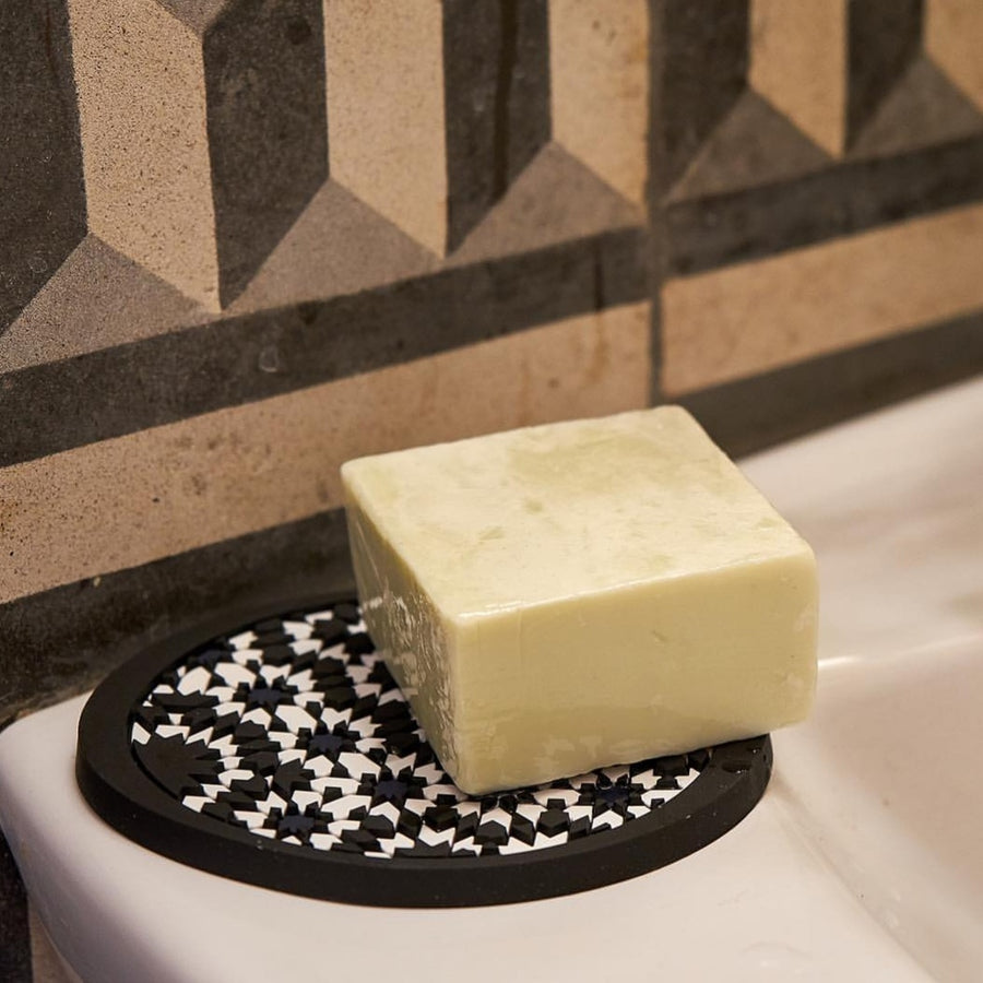 Geometric pattern Middle Eastern soap rest soap dish PVC  The Habibti Collective
