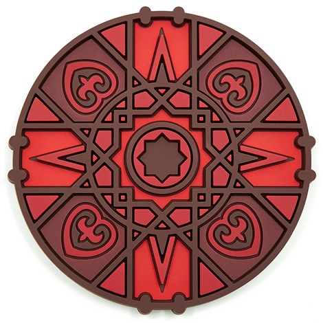 Geometric Middle Eastern red Bottle Holder Coaster PVC  Dining The Habibti Collective