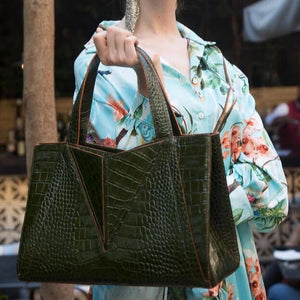Green Crocodile | Victoria Bag
