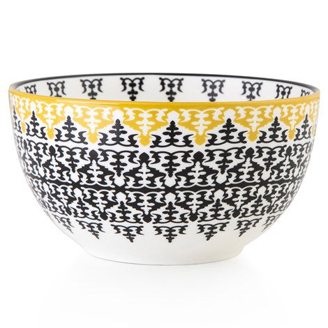 Geometric pattern Middle Eastern black and white tin porcelain coffee mug bowl The Habibti Collective