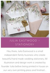 Whimsical Wonderland Weddings Supplier Love, Julia Eastwood Wedding Stationery