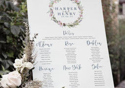 TABLE PLANS & SIGNS