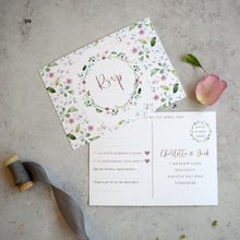 Load image into Gallery viewer, 'Confetti' wedding RSVP cards