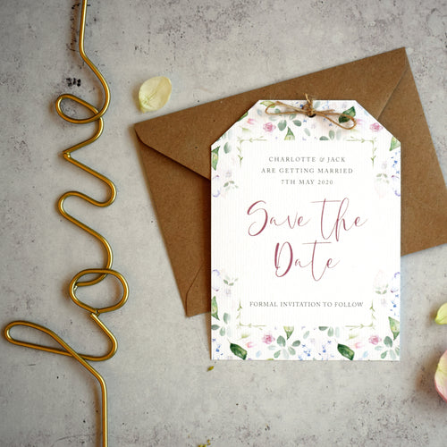 'Confetti' wedding save the date cards