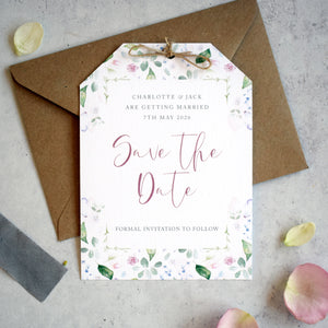 Spring wedding 'Save the date' cards
