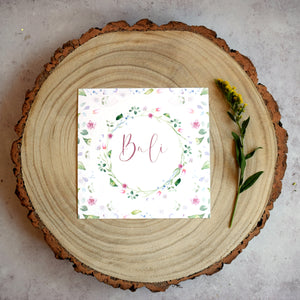 'Confetti' Rustic wedding table name cards