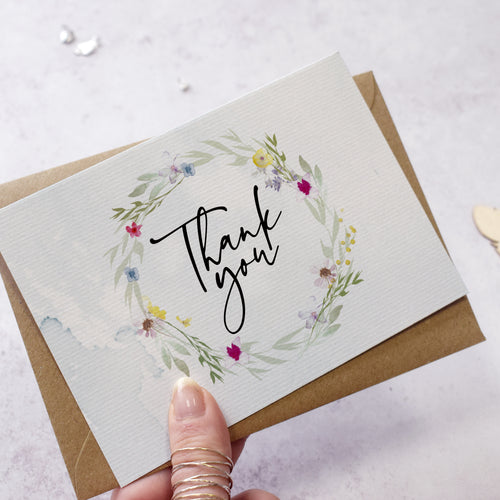 Flower Press Thank You Postcards