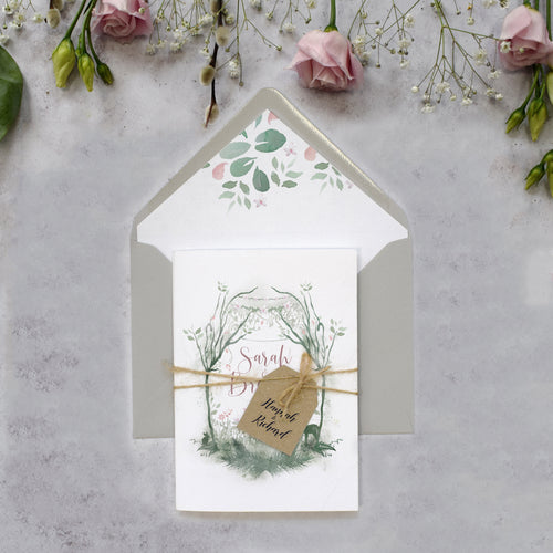 Fairytale Blossom Concertina Invitation