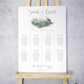 'Fairytale Blossom' large rustic wedding table plan