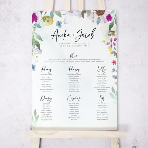 Flower Press Table Plan