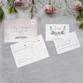 RSVP cards from our 'Foliage Blush' collection