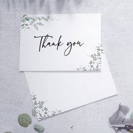blank reverse on 'Greenery' thank you cards