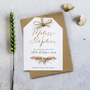 'Highland Autumn' Wedding Save the Date Cards