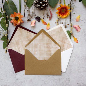 Highland Autumn Concertina Invitation