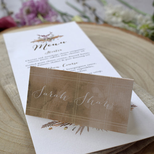 Highland Autumn Place Cards