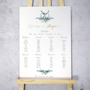 Highland Winter Table Plan