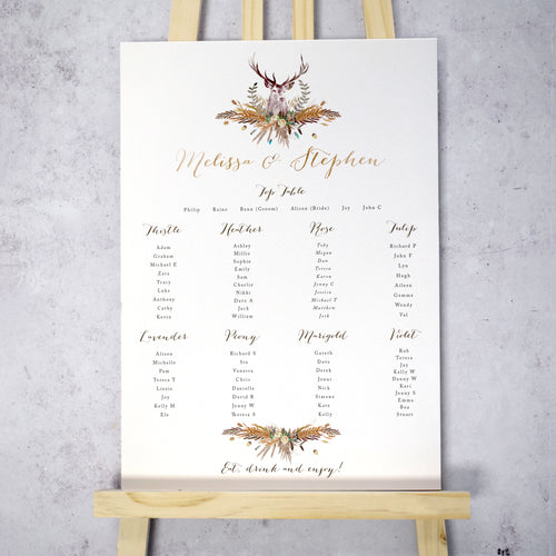 Highland Autumn Table Plan