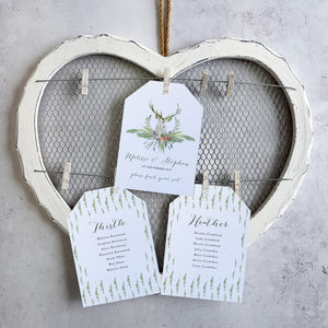 Highland Summer Table Plan Cards