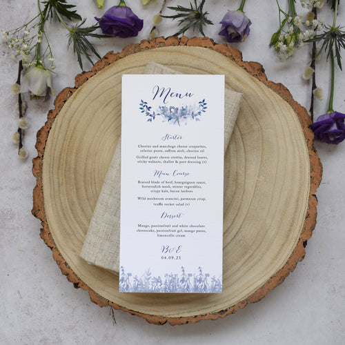'Magical' personalised wedding menus