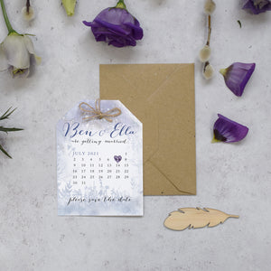 Midsummer nights dream wedding save the date cards