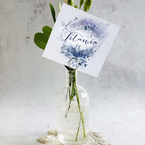 Midsummer Nights Dream wedding table name cards