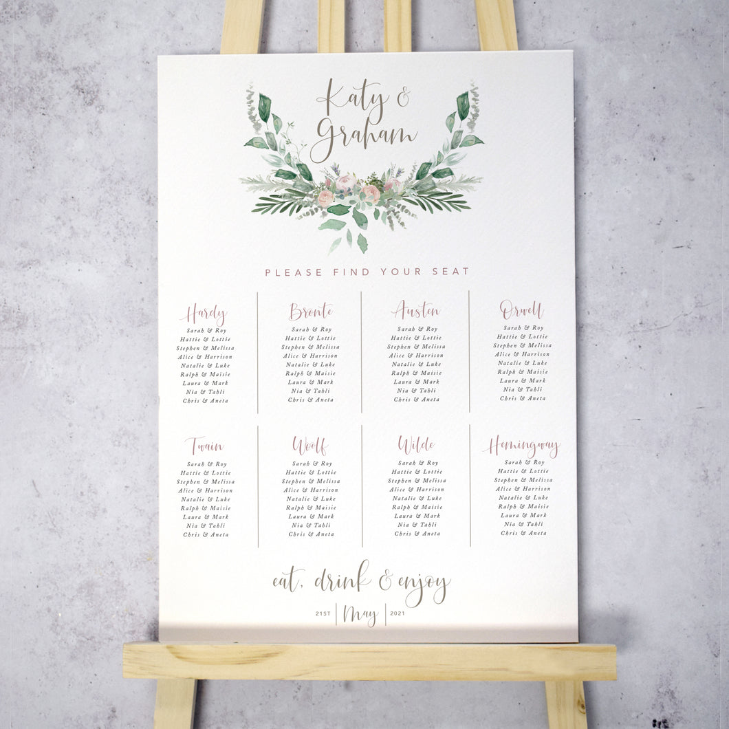 Foliage Blush Table Plan