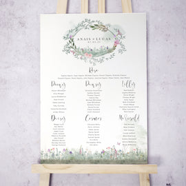 Secret Garden Wedding Table Plan