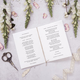 'Foliage Blush' personalised Order of service inserts