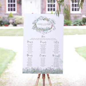 Secret Garden Table Plan