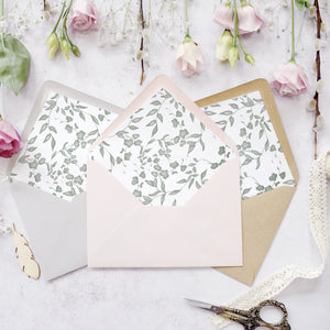 Secret Garden Concertina Invitation