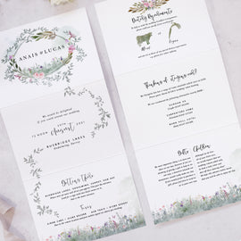 Secret Garden wedding invites from our country wedding range