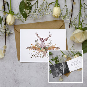 Personalised Photo Highland Autumn Thank You Cards