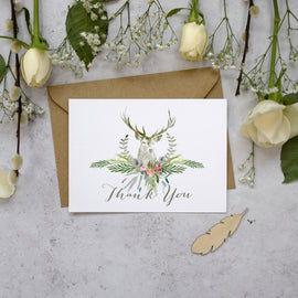 'Highland Summer' wedding thank you postcards