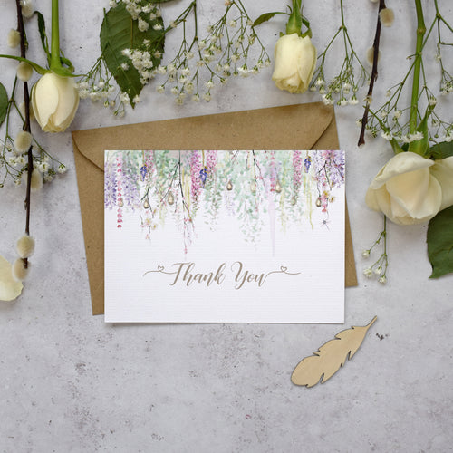 Whimsical Spring Thank You Postcards